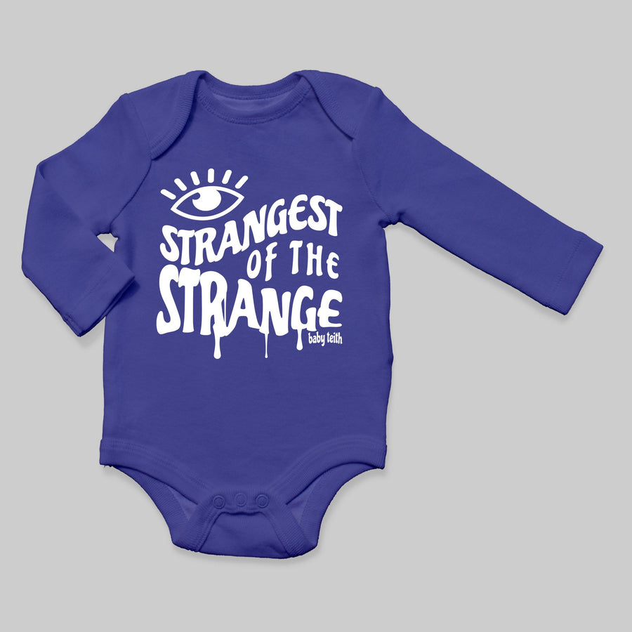 """Strangest of the Strange"" Long Sleeve Baby Bodysuit"