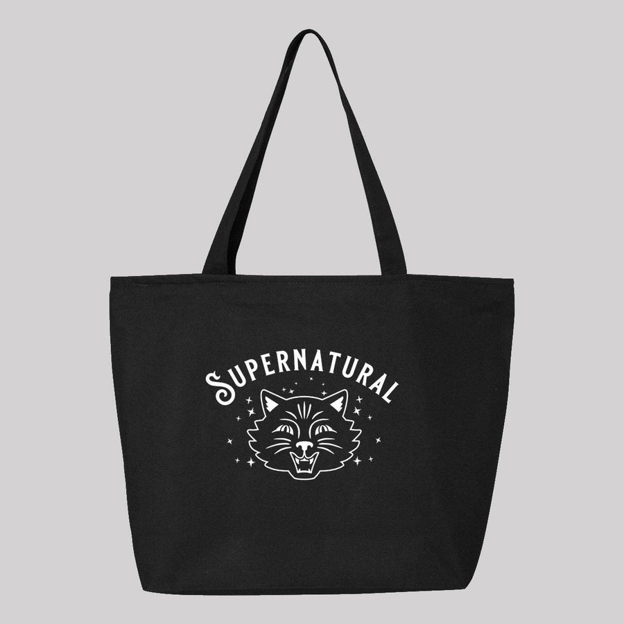Supernatural Cat Canvas Tote Bag
