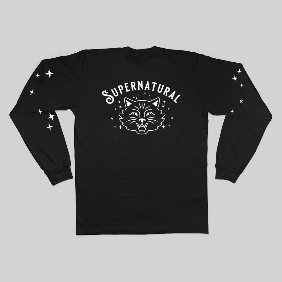 Supernatural Cat Unisex Long Sleeve Tee - Back Print