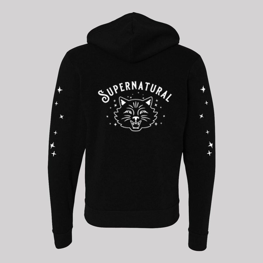 Supernatural Cat Unisex Zip-Up Hoodie