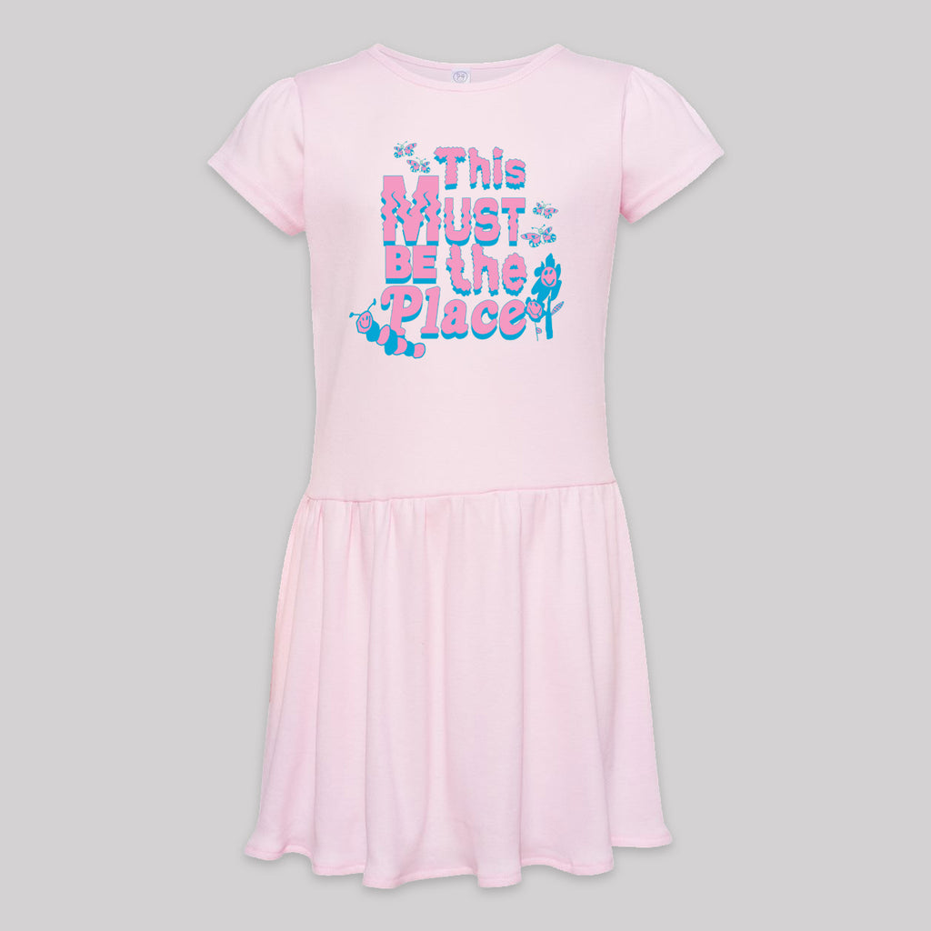 This Must Be The Place Tee Kids Dress (2 colors)