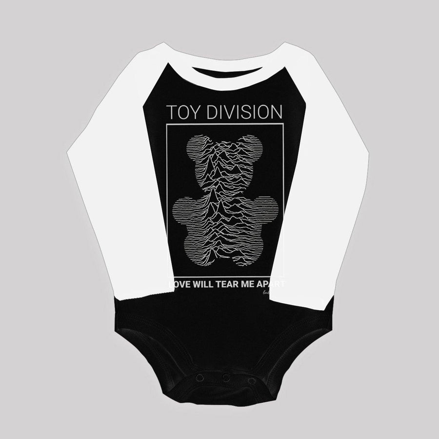 """Toy Division"" Long Sleeve Ragan Bodysuit for Babies"