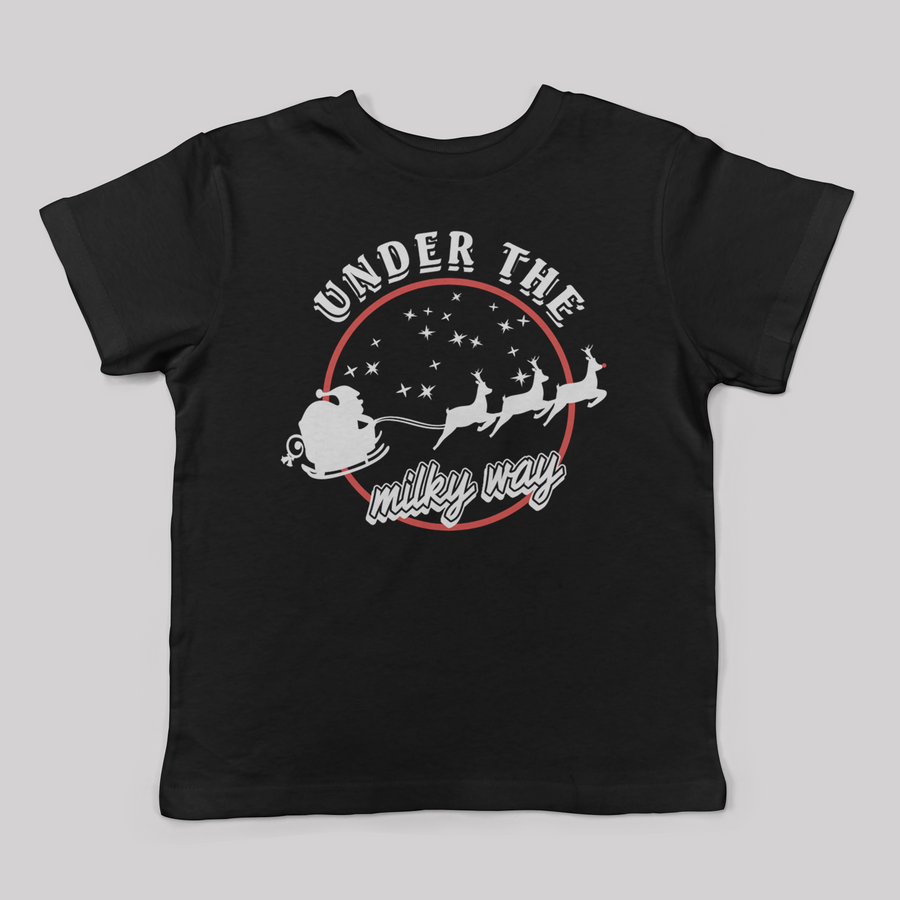 The Church Inspired Under the Milky Way Santa Unisex Tee for Kids
