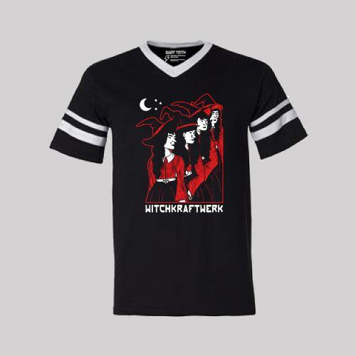 Witch Kraftwerk Halloween Football Tee