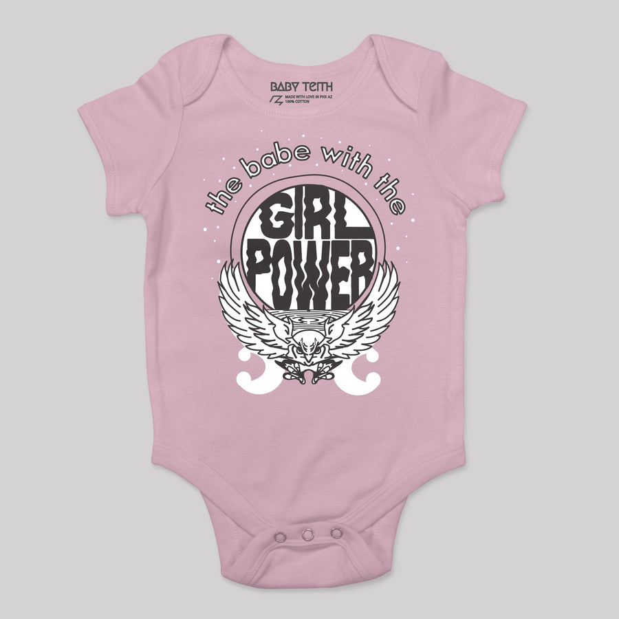 Babe with the Girl Power Bodysuit - Baby Teith