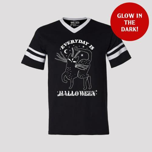 Everyday is Halloween Football Tee for Adults