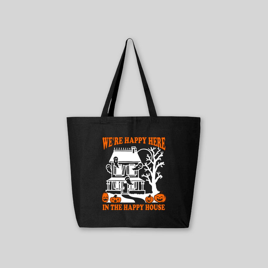 Happy Haunted House Tote Bag