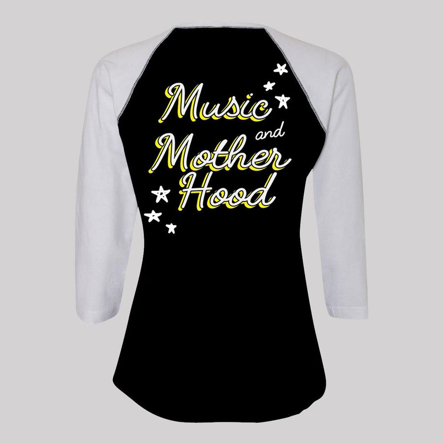Music and Motherhood Baseball Tee