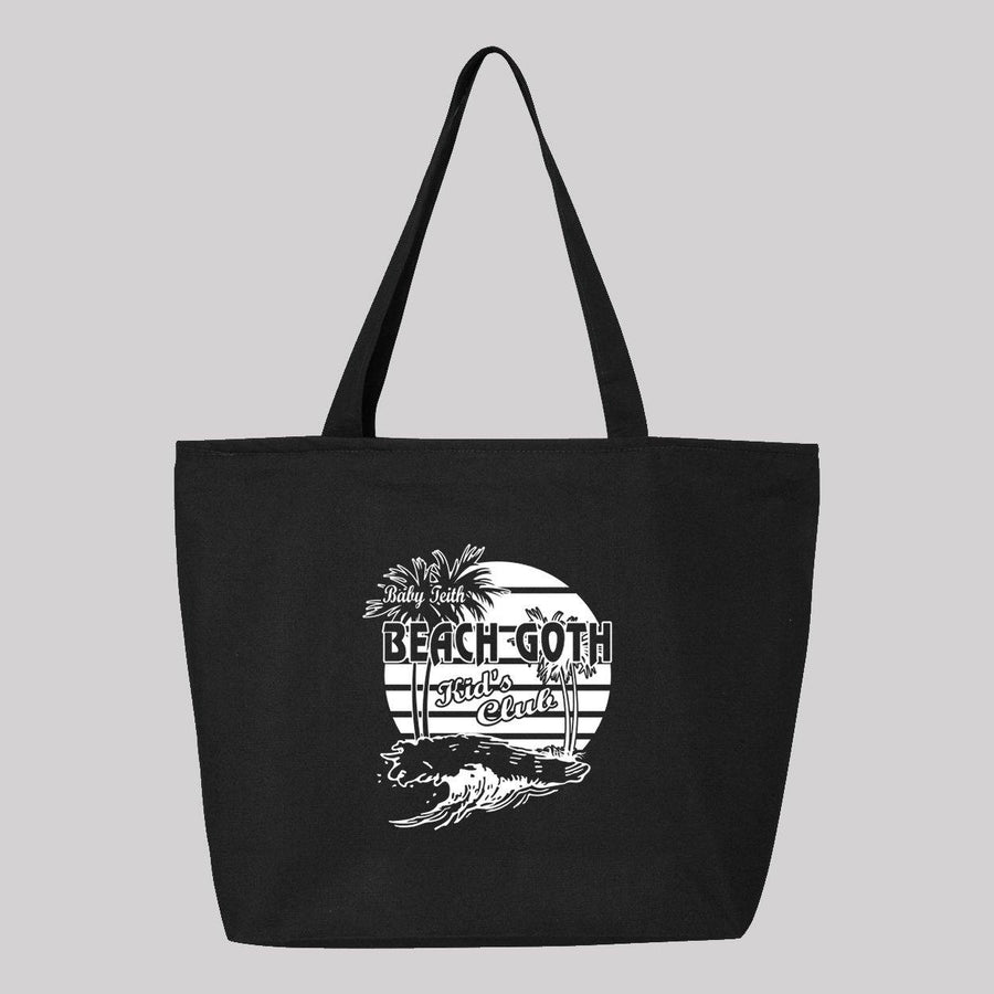 Beach Goth Kids Club Canvas Tote Bag