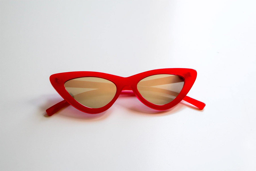 Retro Red Mirrored Sunnies for Kids