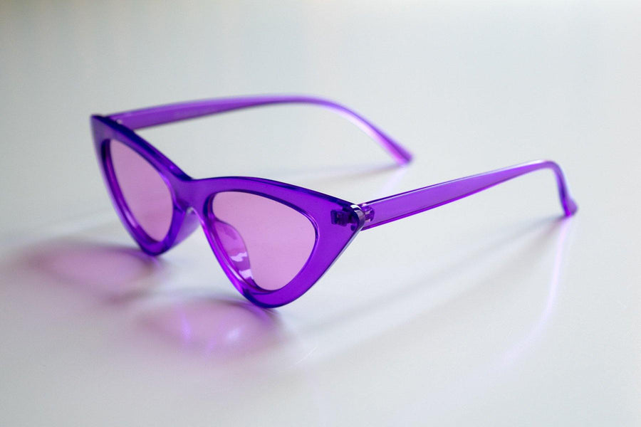 Retro Purple Clear Frame Sunnies for Kids