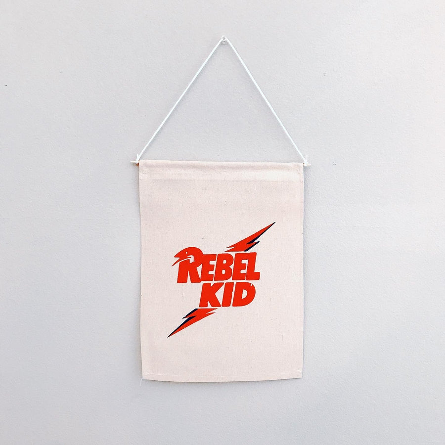 Rebel Kid Canvas Banner