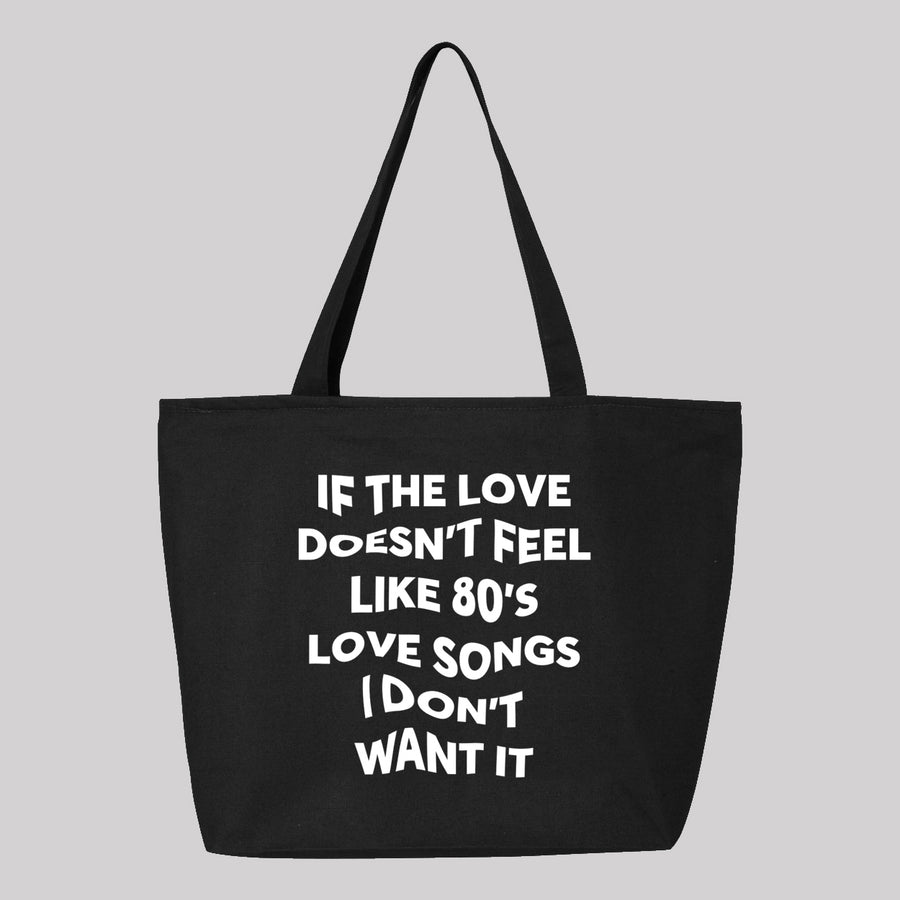 80 Love Songs Tote Bag
