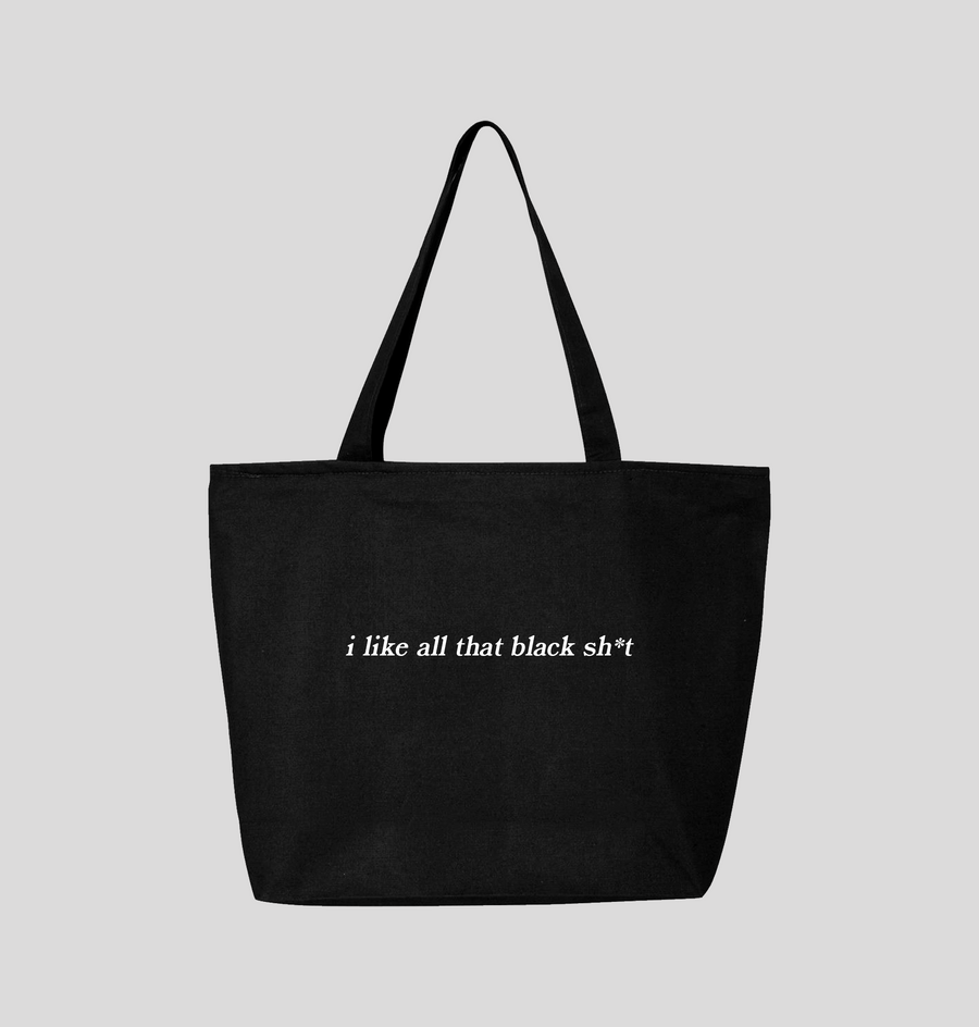 Black Sh*t Jumbo Tote Bag