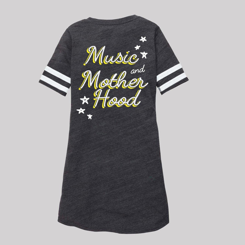 Music and Motherhood Lace Up Dress