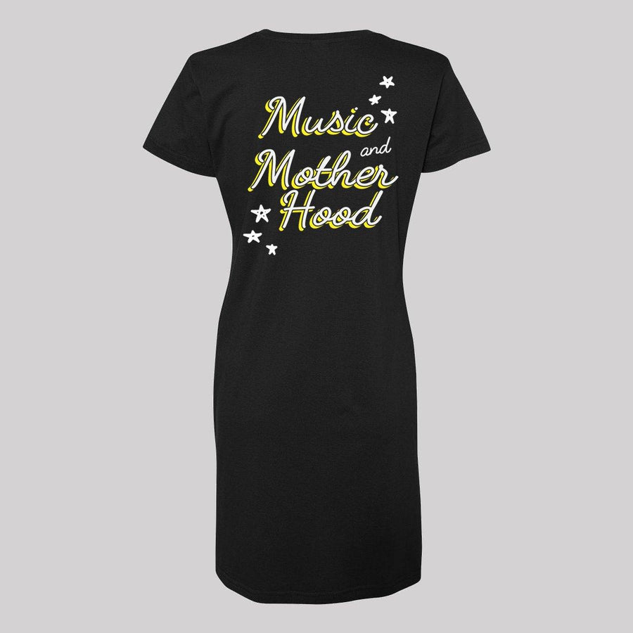 Music and Motherhood V-Neck Dress