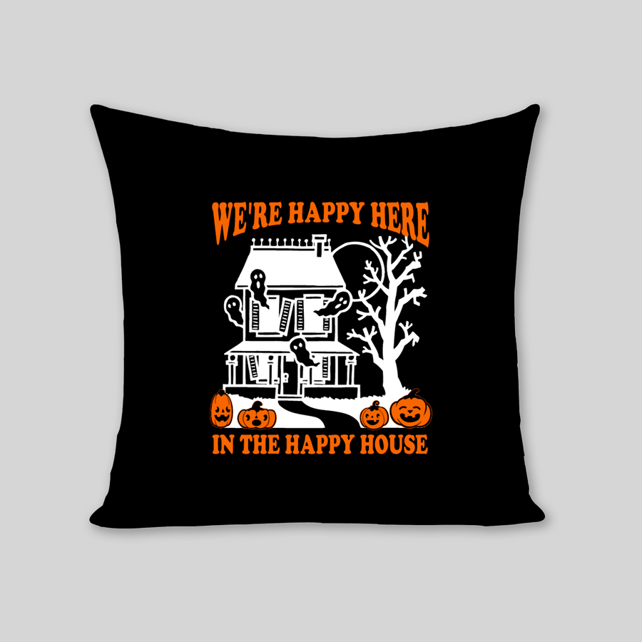 Happy Haunted House Pillow