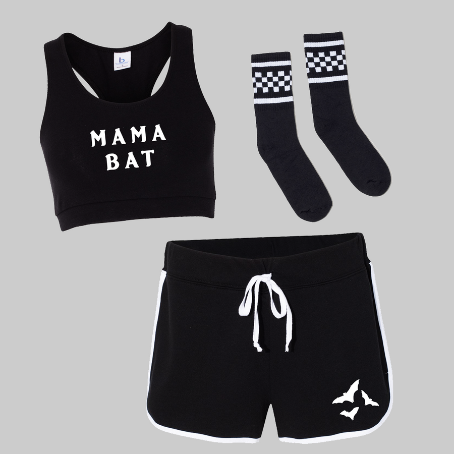Mama Bat Shorts Set