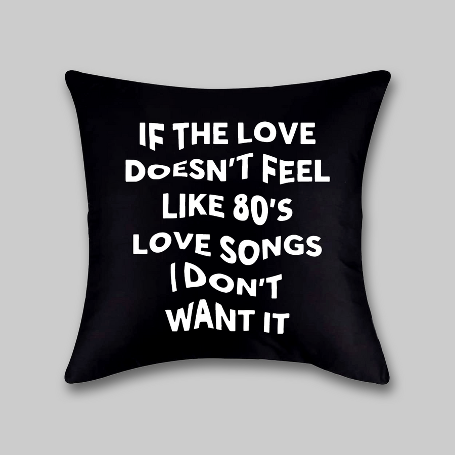 80's Love Songs Pillow