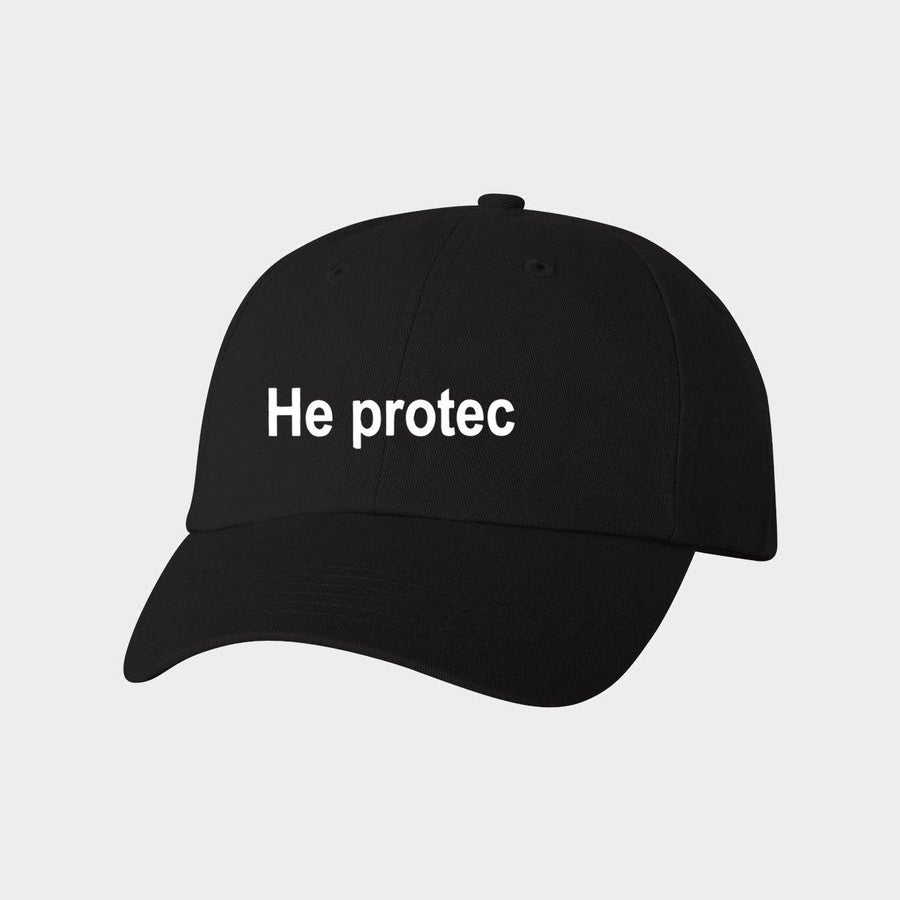 He Protec Canvas Baseball Hat for Adults