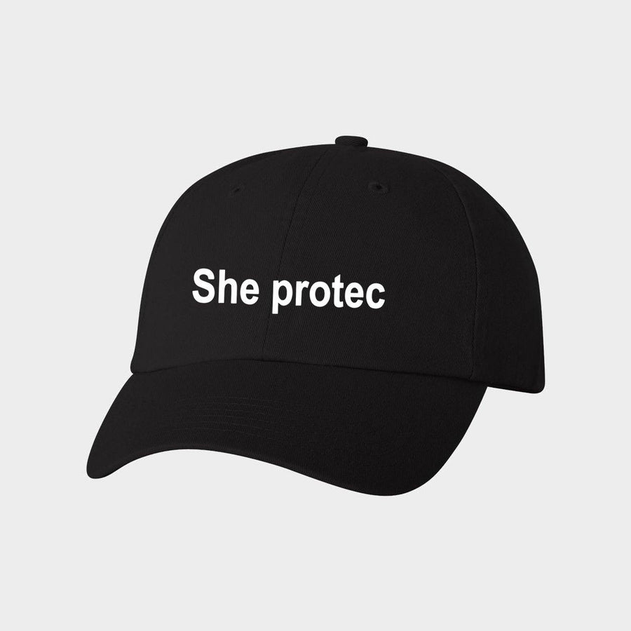 She Protec Canvas Baseball Hat for Adults