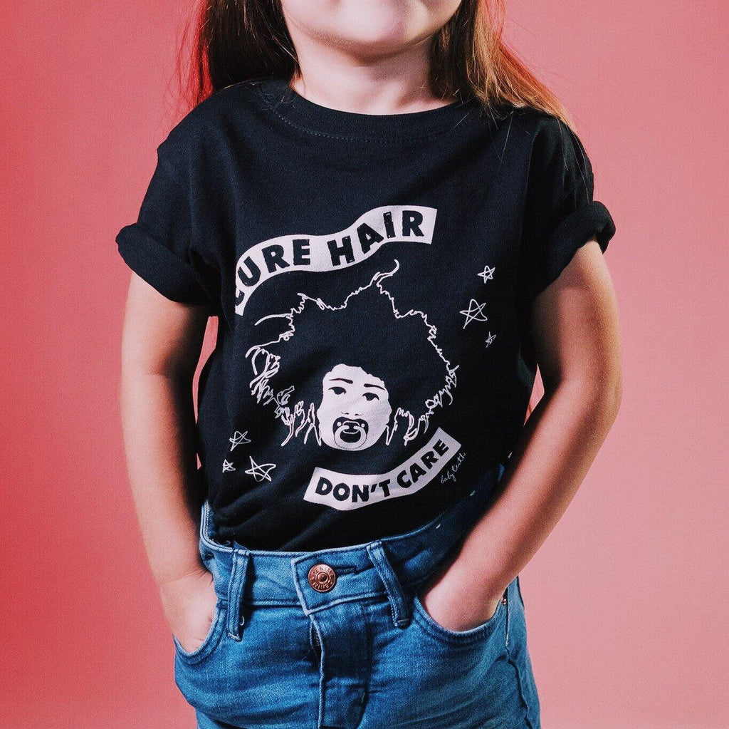 """Cure Hair Don't Care"" Tee for Kids"