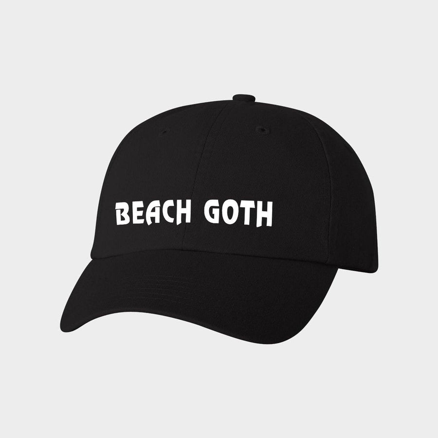 Beach Goth Canvas Baseball Hat for Adults