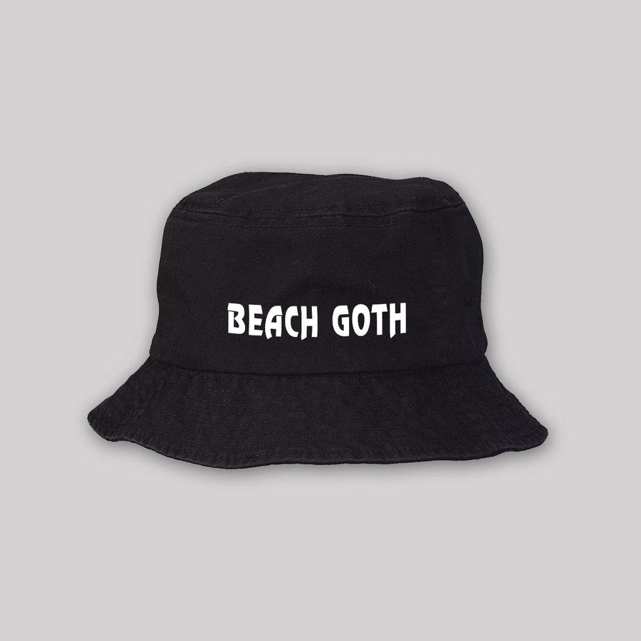 Beach Goth Bucket Hat for Adults