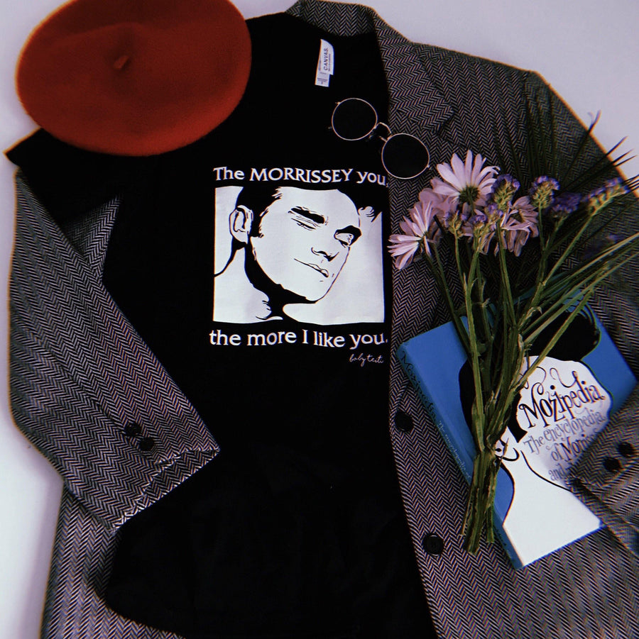 """The Morrissey You"" Tee for Adults in Black"