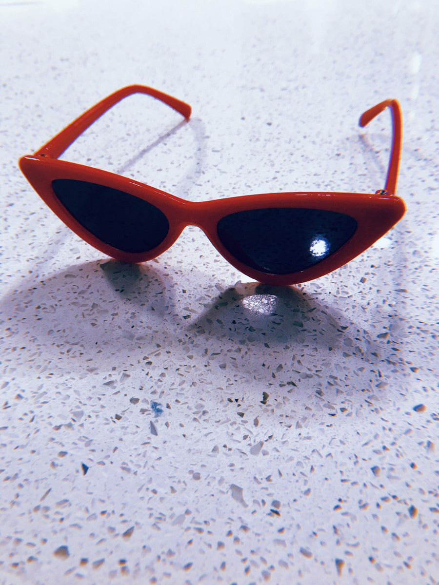 Retro Red Cateye Sunnies for Kids