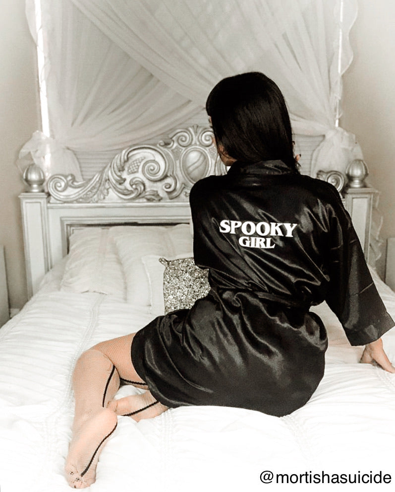 Spooky Girl Satin Robe