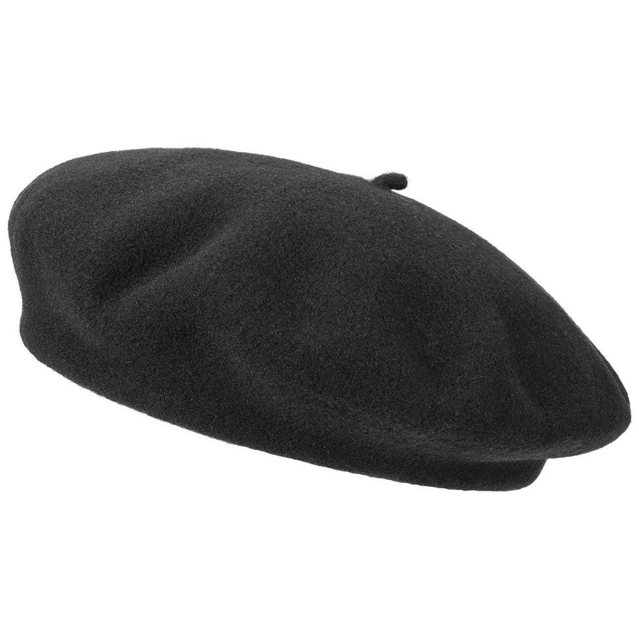 Kids Wool Beret in Black
