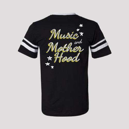 Music and Motherhood Football Tee