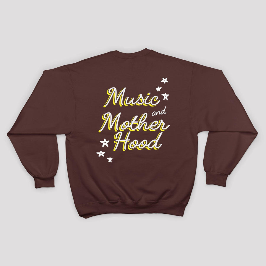 Music and Motherhood Sweatshirt in Maroon