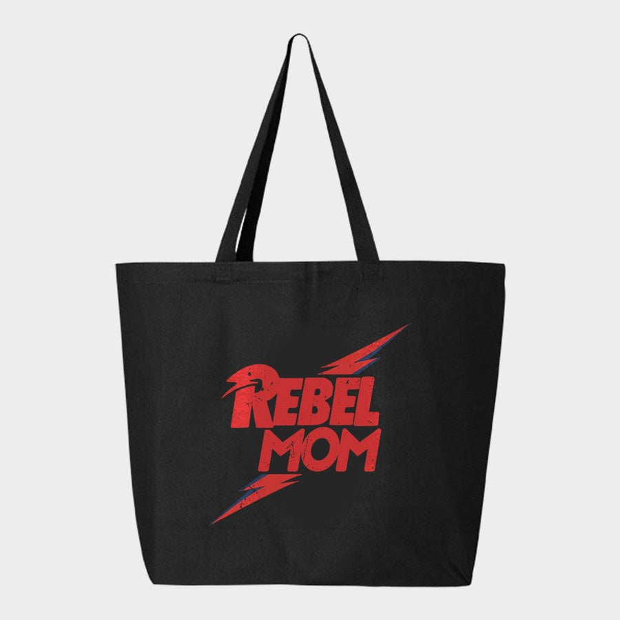 Rebel Mom Canvas Tote Bag - Baby Teith