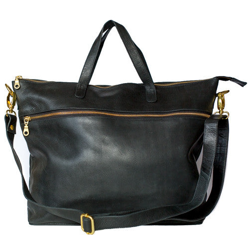 Rome Leather Tote Bag<br>Black