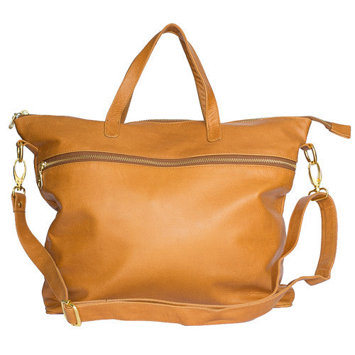 Rome Leather Tote Bag<br>Caramel