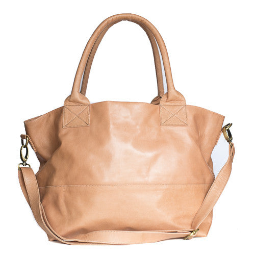 Paris Leather Tote Bag<br>Blush