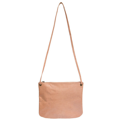 Florence Leather Crossbody Bag<br>Blush