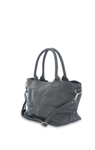 Paris Leather Tote Bag<br>Grey