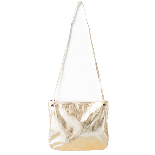 Florence Leather Crossbody Bag<br>Gold