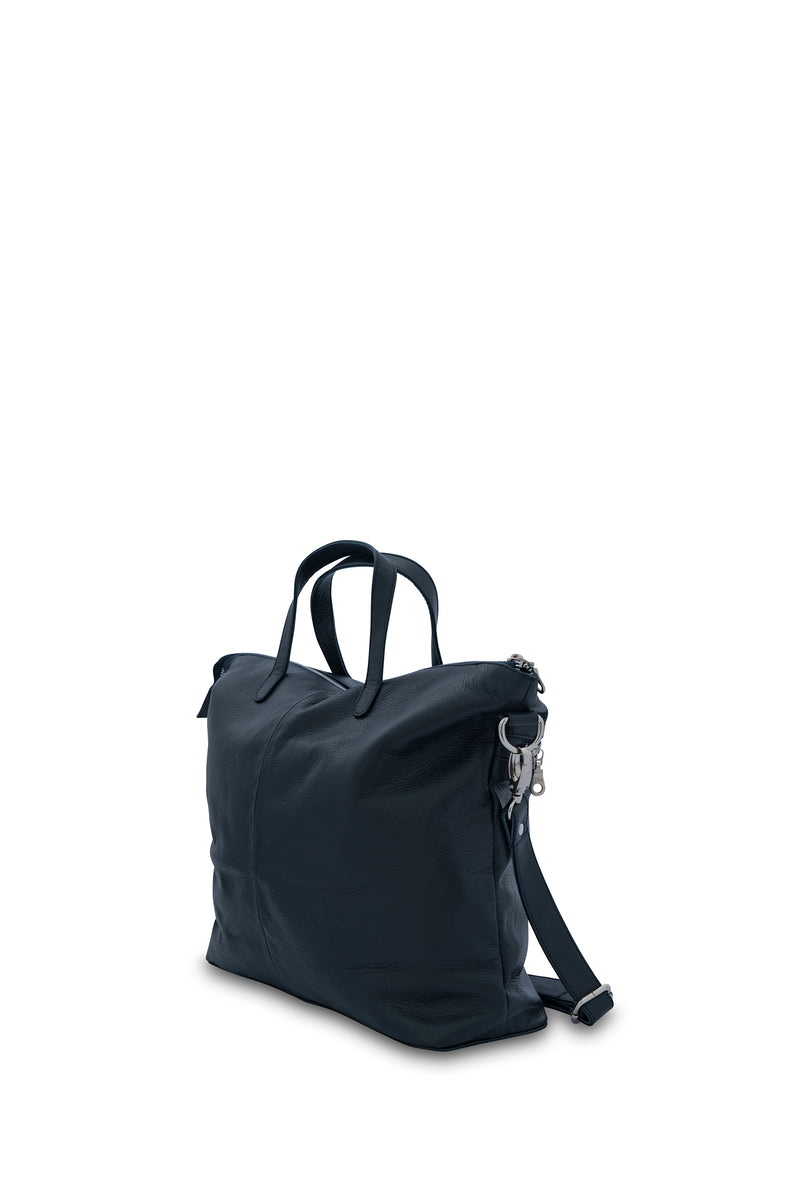 Rome Leather Tote Bag<br>French Navy