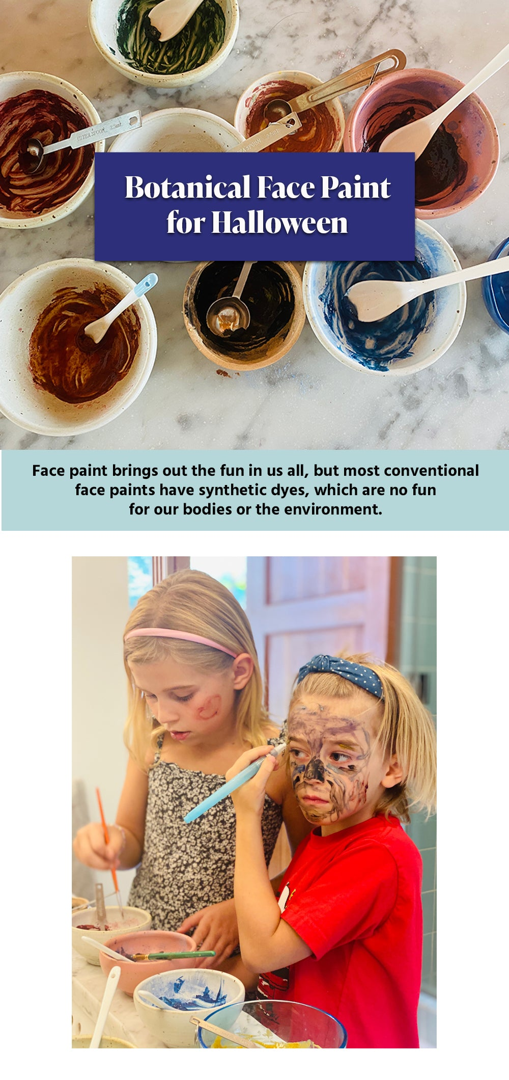 make your own natural face paints