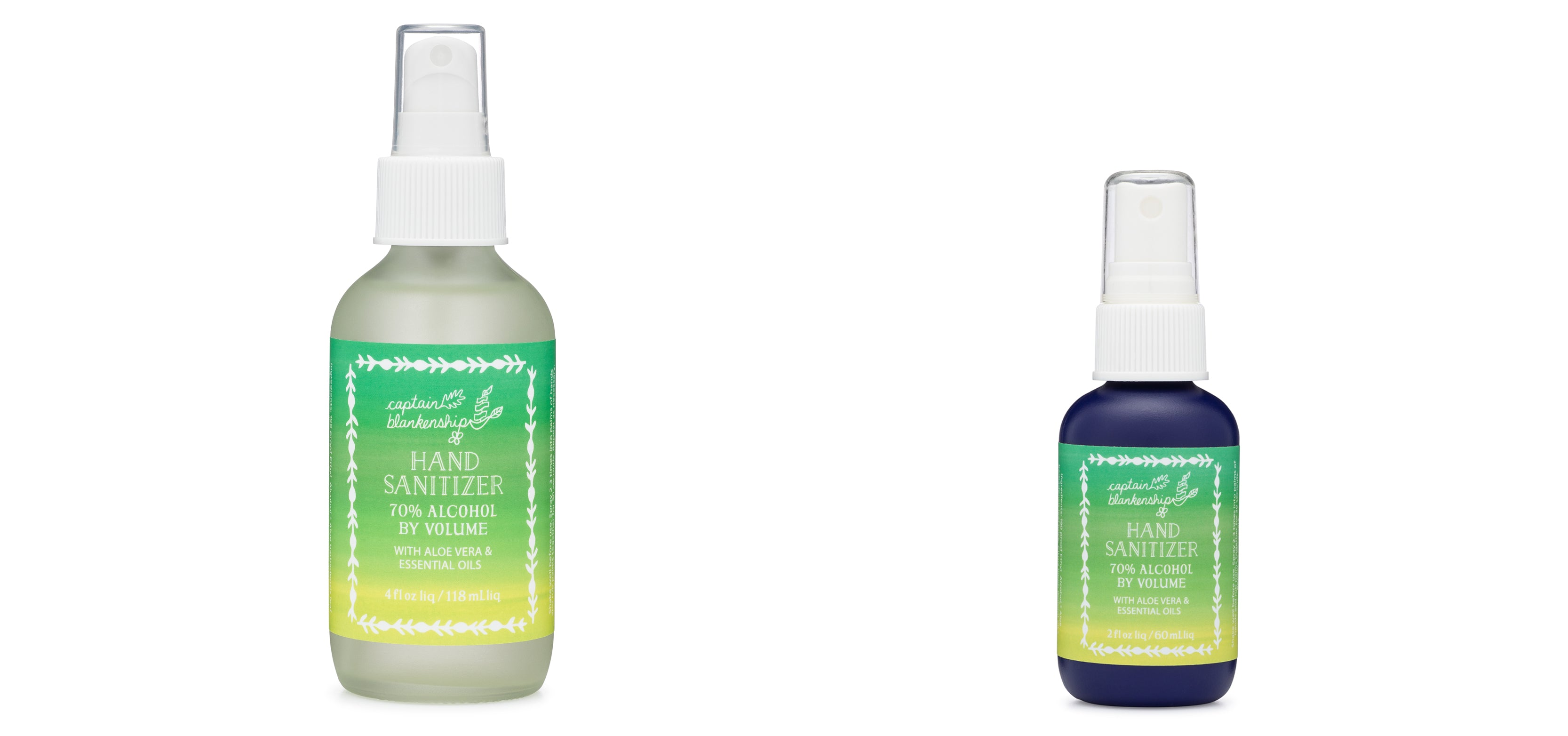 Captain Blankenship All-Natural Hand Sanitizer with Essential Oils