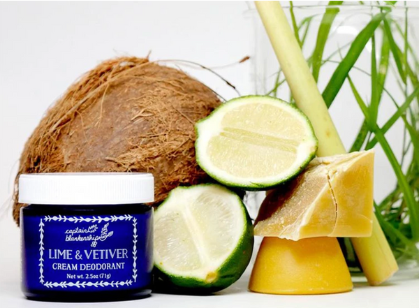captain blankenship lime and vetiver all natural deodorant