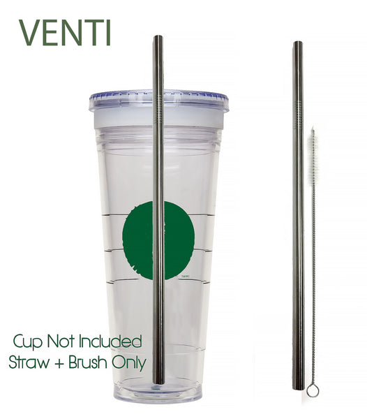 Travel Cup Stainless Steel Drinking Straws - Starbucks Style