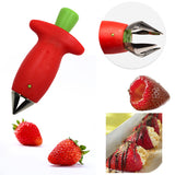 Strawberry Stem Removal Huller Slicer Tool Removing Tomato Persimmon Cherry