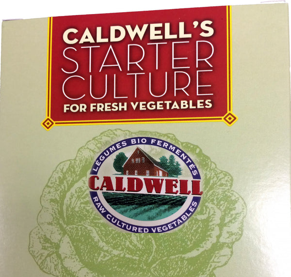 Starter Culture for Vegetables, 2-Packet Caldwell's Fermentation