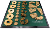 3 Silicone Non Stick Sheets fits Tribest Sedona Dehydrator Combo Classic P9000 + P9150 fruit roll up crackers Teflon-Free
