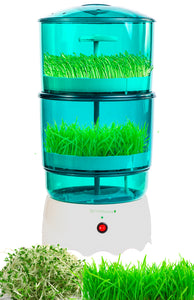 SproutStacker 2 Level Automatic Sprouter Machine by Bright Kitchen Automated Heated Seed Growing Sprouting Machine